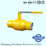 GOST entièrement soudé standard Port Gas Natural Steel Ball Valve