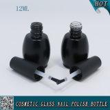 Bottiglia di vetro su ordinazione colorata nera 12ml del polacco di chiodo del Matt