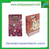 Sac de confiserie de cadeau estampé par coutume de sac à provisions de transporteur de sac de papier de mode de sacs à main