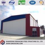 Gruppo di lavoro d'acciaio prefabbricato della costruzione con i multi pavimenti