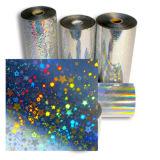 Rodillo olográfico de aluminio de la hoja del color de la lámina para gofrar de la hoja caliente gris del traspaso térmico