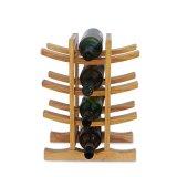 Soporte de visualización de bambú del bulto del estante del estante del vino del vino del material sólido