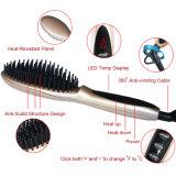 Cabelo do ouro do LCD Digital Rosa que endireita o ferro do Straightener do cabelo da escova