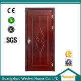 Puerta de seguridad de acero sólido de madera / metal inoxidable