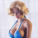 165 juguetes orales de la muchacha del amor del tope del pecho grande apretado de la vagina para el hombre