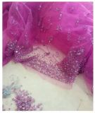 Vestido de noite roxo elegante do casamento com parte traseira do ponto baixo