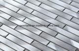 Aluminiummosaik-Fliesen Matel deckt Dekoration-Küche Backsplash Badezimmer-Wand-Fliesen mit Ziegeln