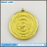 La pièce de monnaie faite sur commande de médaillon d'or de médaille en métal ouvre le souvenir