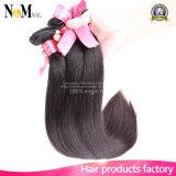 Волосы бразильских прямых волос девственницы сырцовые естественные соткут