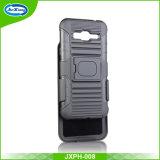 2017最も新しい到着のベルトクリップが付いているスマートな携帯電話の箱のための製造業者の卸売およびSamsungギャラクシーJ3のKickstand
