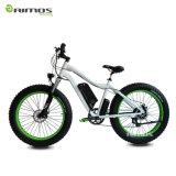 Bici de montaña eléctrica de la suspensión completa de la potencia verde