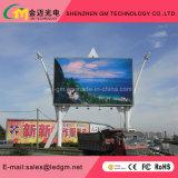 Muestra video de P10 RGB LED con la visualización de LED del mensaje del movimiento en sentido vertical para la pantalla completamente al aire libre del uso LED