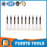 2 dos herramientas que muelen cuadradas del carburo sólido micro del diámetro de las flautas