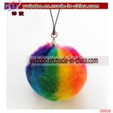 Promoción dominante Keychain (G8022) de la piel del conejo del comprador del sostenedor de Yiwu China