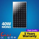 Alta efficienza comitato solare monocristallino di PV di 40 watt