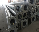 calle de aluminio impermeable postes ligeros de la buena calidad de los 7m