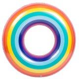 32 pulgadas de diámetro de PVC inflable del arco iris Natación Anillo para piscina