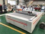 Машина прокладчика вырезывания ножа колебания ткани цифров резца CNC доски одеяла офсетной печати кожаный