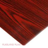 Декоративная плита зерна PVC деревянная