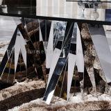 Tabella pranzante dell'acciaio inossidabile della mobilia del ristorante alla moda