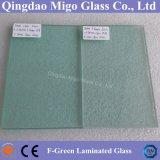 vetro di costruzione laminato riflettente F-Verde di 5mm+0.38PVB+3mm
