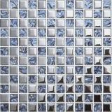 Mosaico de cristal del metal de plata para el azulejo de suelo