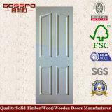 Porte en bois de forces de défense principale de peinture blanche pour la pièce intérieure (GSP8-036)
