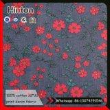Красивейшая ткань джинсовой ткани печати цветка для платья детей