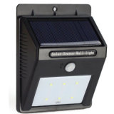 6つLED IP65は無線人間の動きセンサーの庭ライト屋外の太陽PIRセンサーの壁ライトを防水する