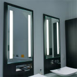 Espejo integral colgante de la pared grande de lujo con las luces del LED