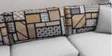 Il più nuovo tessuto grigio reale la L sofà di figura ha impostato per la casa (FS-028)