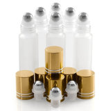 rolo da esfera de metal de 5ml 10ml 15ml em frascos coloridos tubo de ensaio do rolo de /Mini Prefume dos frascos de vidro da câmara de ar dos frascos