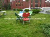 中国の製造からの野外活動の使用のための87cmのプラスチック正方形の折りたたみ式テーブル