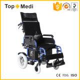 Nieuw Medisch Hulpmiddel Hadicapped die de Vouwbare Elektrisch aangedreven Stoel van het Wiel doen leunen