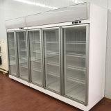 Glasaufrechte Kühlvorrichtung Bildschirmanzeige des tür-Supermarkt-Schaukasten-Kühlraums 1800L