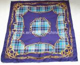 Check&Chain purpurroter Silk Schal/Foulard (HWBS009)