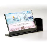 L calendrier acrylique de transparent de forme pour des cadeaux, fourniture de bureau