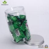 frasco plástico do animal de estimação 800ml com a tampa de prata para o empacotamento de alimento