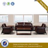 Sofa moderne de bureau de divan de cuir véritable de meubles de bureau (HX-CF014)