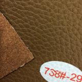 Cuir métallisé d'unité centrale de modèle neuf pour le sofa (HS-M067)