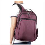 Populärer purpurroter doppelter Riemen-Schulter-Großhandelsrucksack mit der grossen Kapazität