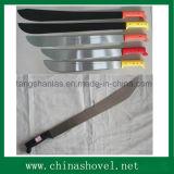 Machette de canne à sucre d'acier du carbone de machette avec le traitement en bois