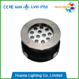 18W lámpara subterráneo del acero inoxidable de 12V / 220V
