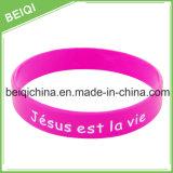 Logo fait sur commande d'impression sur le bracelet de silicones