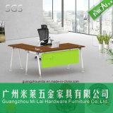 L popular barato escritorio de madera del ordenador de Office&Home de la dimensión de una variable con la pierna del acero inoxidable