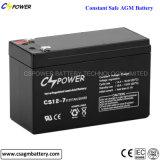 Bateria recarregável acidificada ao chumbo selada bateria dos PRECÁRIOS 12V 7ah de Cspower