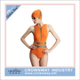 Vrouwen Nylon Spandex plus Zwempak van de Bikini Waisted van de Grootte het Hoge