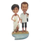 Hot Sale Couple Figurine Custom Resin Wedding Bobble Head