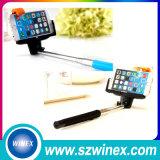 Тональнозвуковая ручка Selfie связанная проволокой Monopod Selfie провода Wirelesscontrol