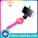 Palillo de moda de Selfie con el botón mini Monopod atado con alambre de Bluetooth